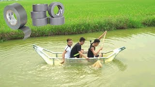 PHD | Thuyền Làm Từ 1000M Băng Dính | Tape Boat