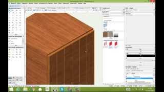 Groef en contour aanmaken in een symbool in Vectorworks interiorcad