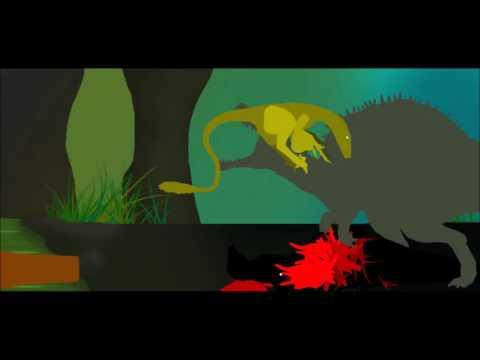 MegaBeastSpinosaurus vs Utahraptor