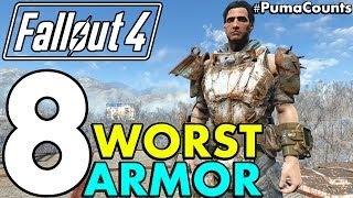 Top 8 Worst Armor Sets, Apparel and Outfits in Fallout 4 (Including DLC) #PumaCounts