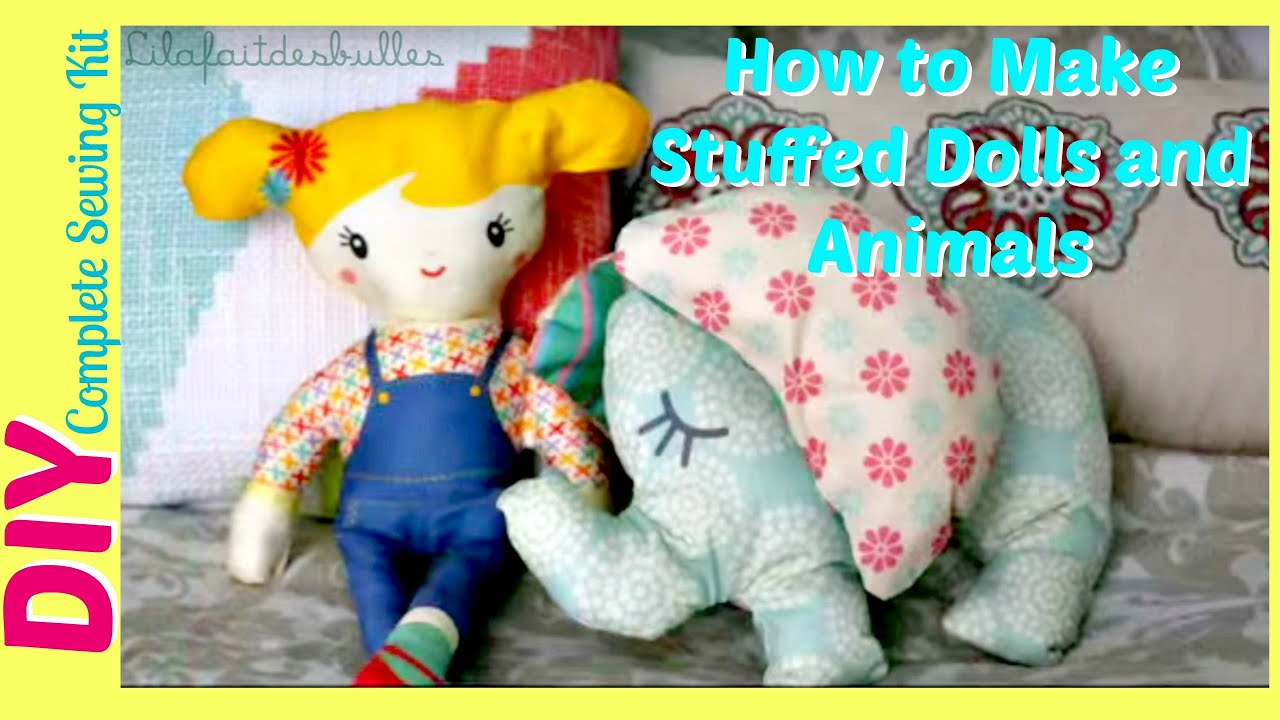 How To Make Stuffed Animals Dolls Toys Diy Sewing Kit A Coudre Best Friends