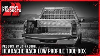 Highway Products - Headache Rack Low Profile Tool Box Combo