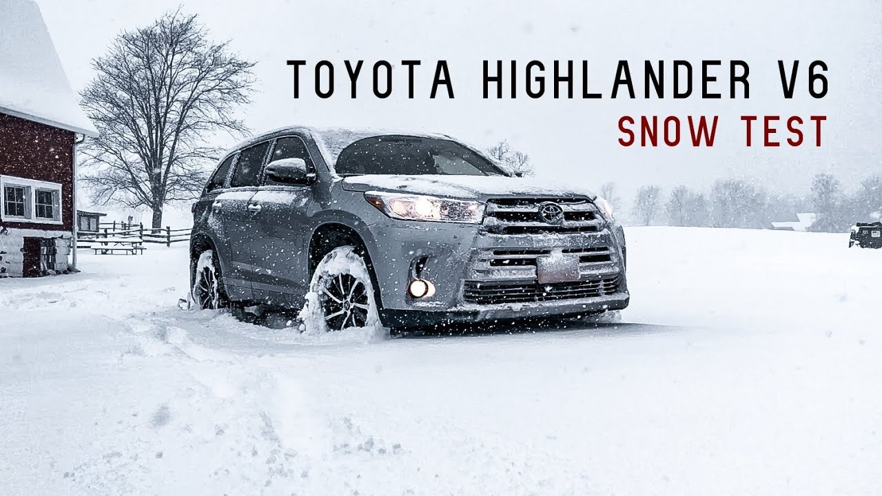 2017 2018 Toyota Highlander V6 Snow Test Review