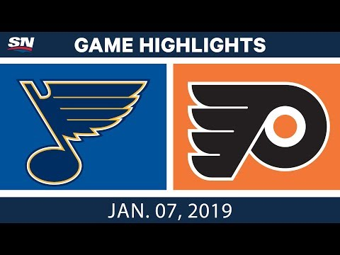 NHL Highlights | Blues vs. Flyers - Jan. 7, 2019