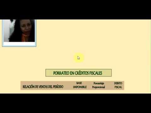 Видео Créditos fiscales no deducibles
