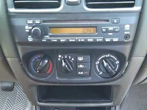 nissan sentra bose car stereo radio removal repair
