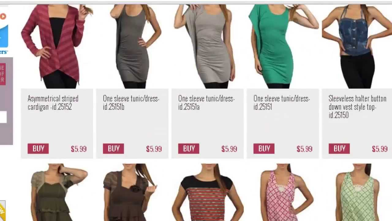 Online fashion clothing stores