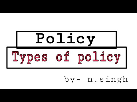 Policy | Types of policy in management