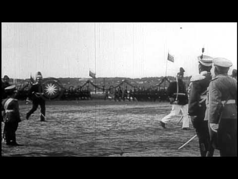 Czar Nicholas II, his son Alexei , and Grand Duke Nicholas Nikolaevich...HD Stock Footage
