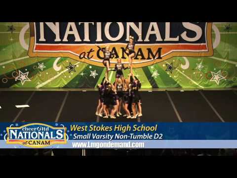 West Stokes High School Varsity Cheerleading Nationals Canam 2016
