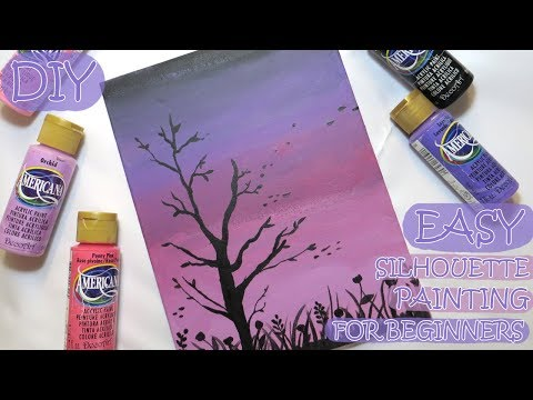 DIY: Easy Silhouette Wall Art Canvas Painting for Beginners | How to fix your painting Re-upload