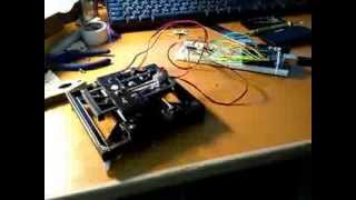 CD Drive Selfmade Tiny 3D Printer  x y carry test