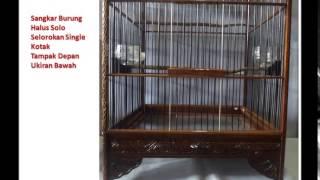 Sangkar Burung Halus Solo Selorokan Single Kotak