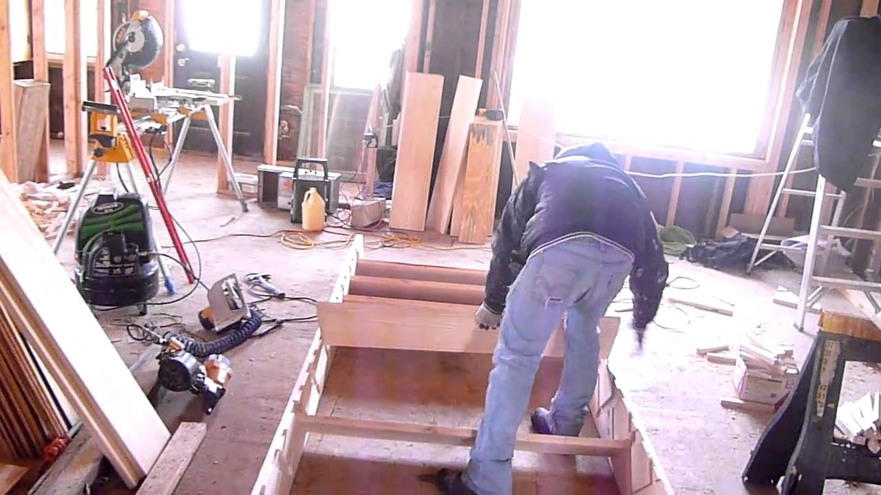 Como hacer escaleras de madera 4 armado youtube for Construir escalera madera