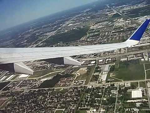 IAH Continental Airlines 737-900 Take-Off Houston Boeing