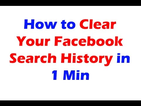 [2016] How to Find/Clear Facebook Search History in 1 Min