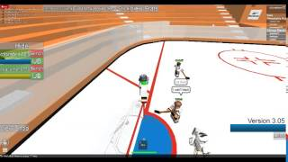Kid thinks he can hack on roblox hockey