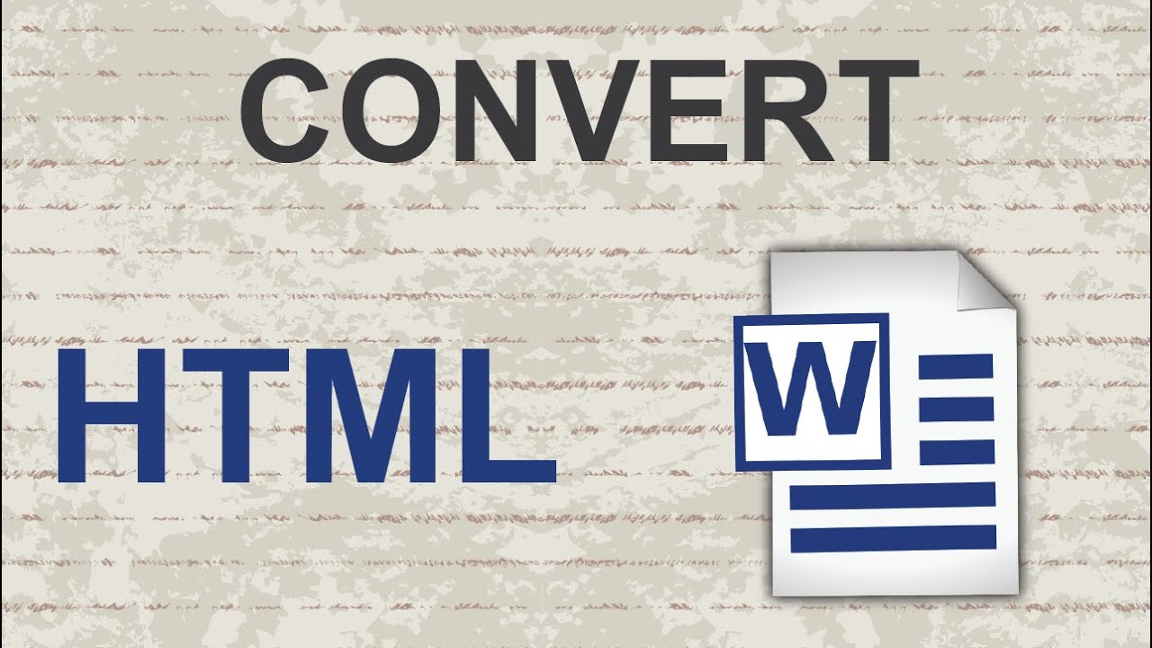 Convert HTML to Word 2015 - YouTube