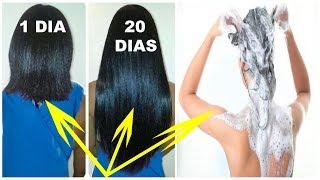 ELA Colocou só Isso no SHAMPOO e Olha o que ACONTECEU em 20 DIAS!!! Funciona MESMO #cabelo #cresce