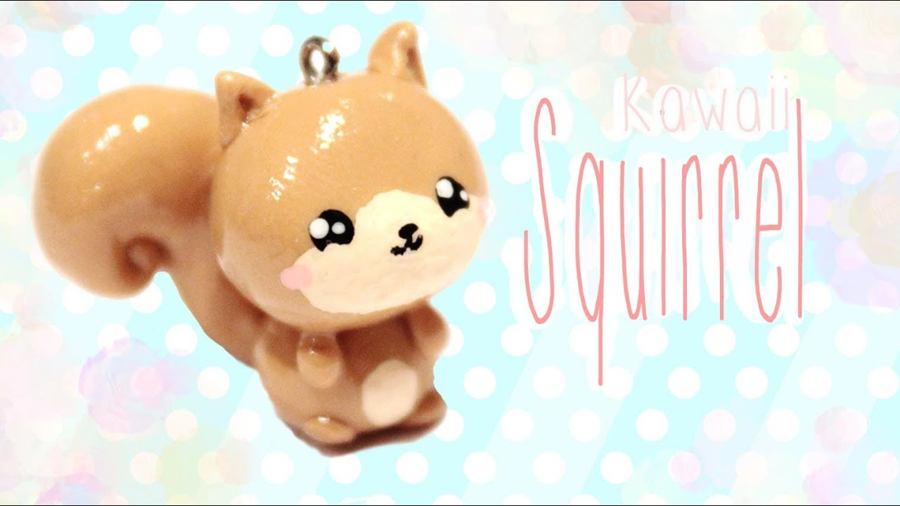 Image of: Clay Charms Kawaii Friday 113 Tutorial In Polymer Clay Youtube Youtube u203f Squirrel Kawaii Friday 113 Tutorial In Polymer Clay Youtube