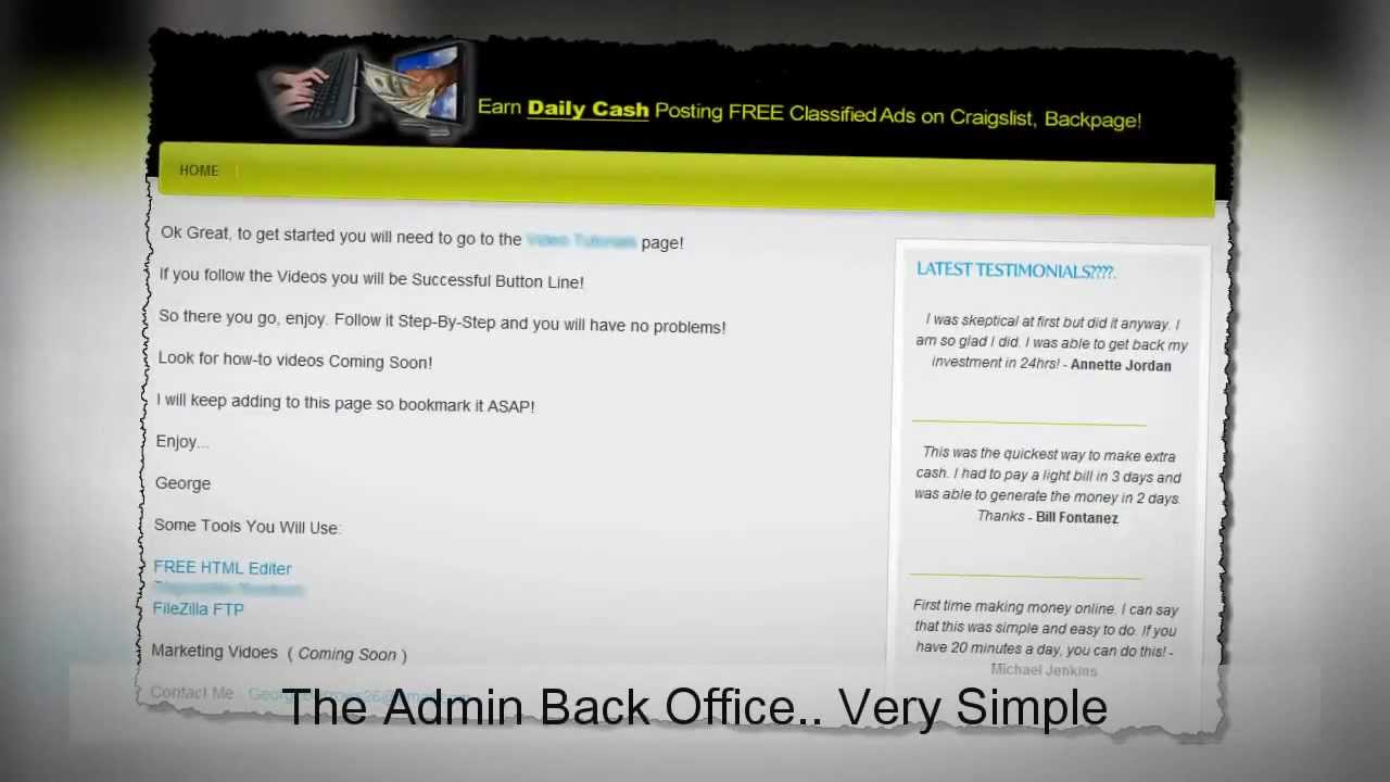 ♥ ♥ ♥ Craigslist   How to Make $200 A Day Posting 3 Ads On ...