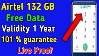 How to Get Free 132GB free Data Offer From Airtel SIM all Users, Airtel free 132GB, Free Data Code