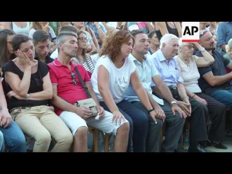Funeral of 7 victims of Itay quake in Pomezia