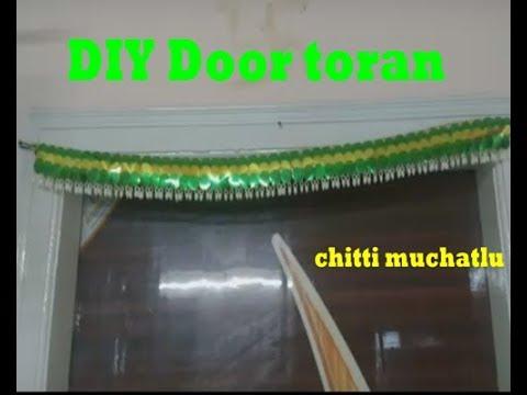 DIY Door Toran Making Ideas | toran making at home | door hanging | door toranam