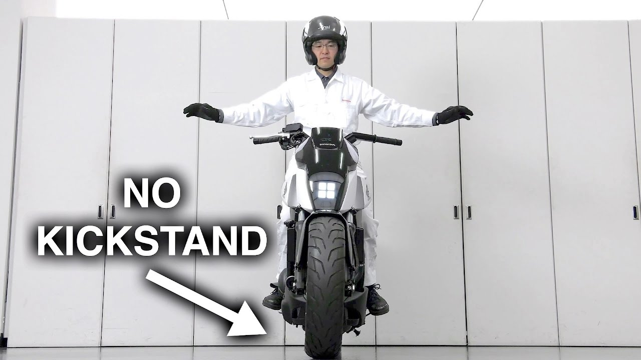 The self-balancing motorcycle is such a Soichiro Honda solution to a