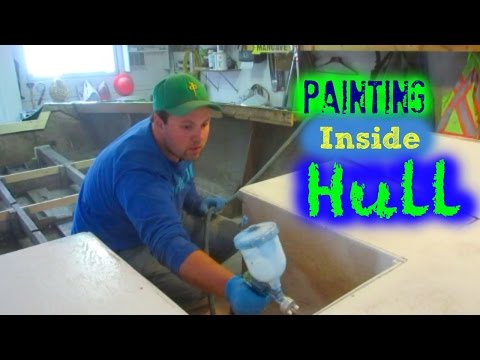 Refinishing Inside Wood Boat Hull // Boat Restoration