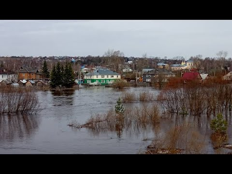 Весенний паводок в Верховажском районе Вологодской области