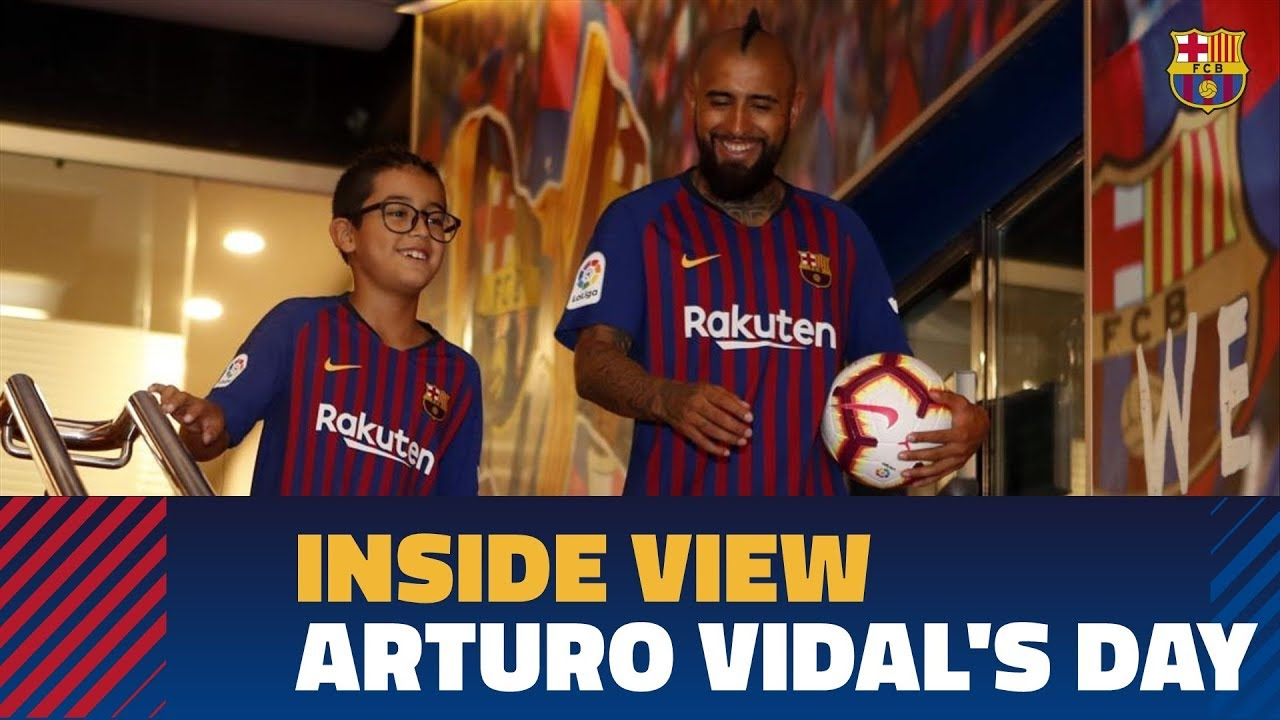 28dbfba8e BEHIND THE SCENES  Arturo Vidal s first 24 hours in Barcelona - YouTube
