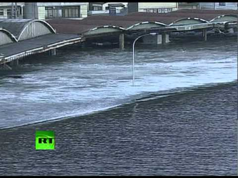 Video of cars, ships wrecked by tsunami waves after Japan earthquake