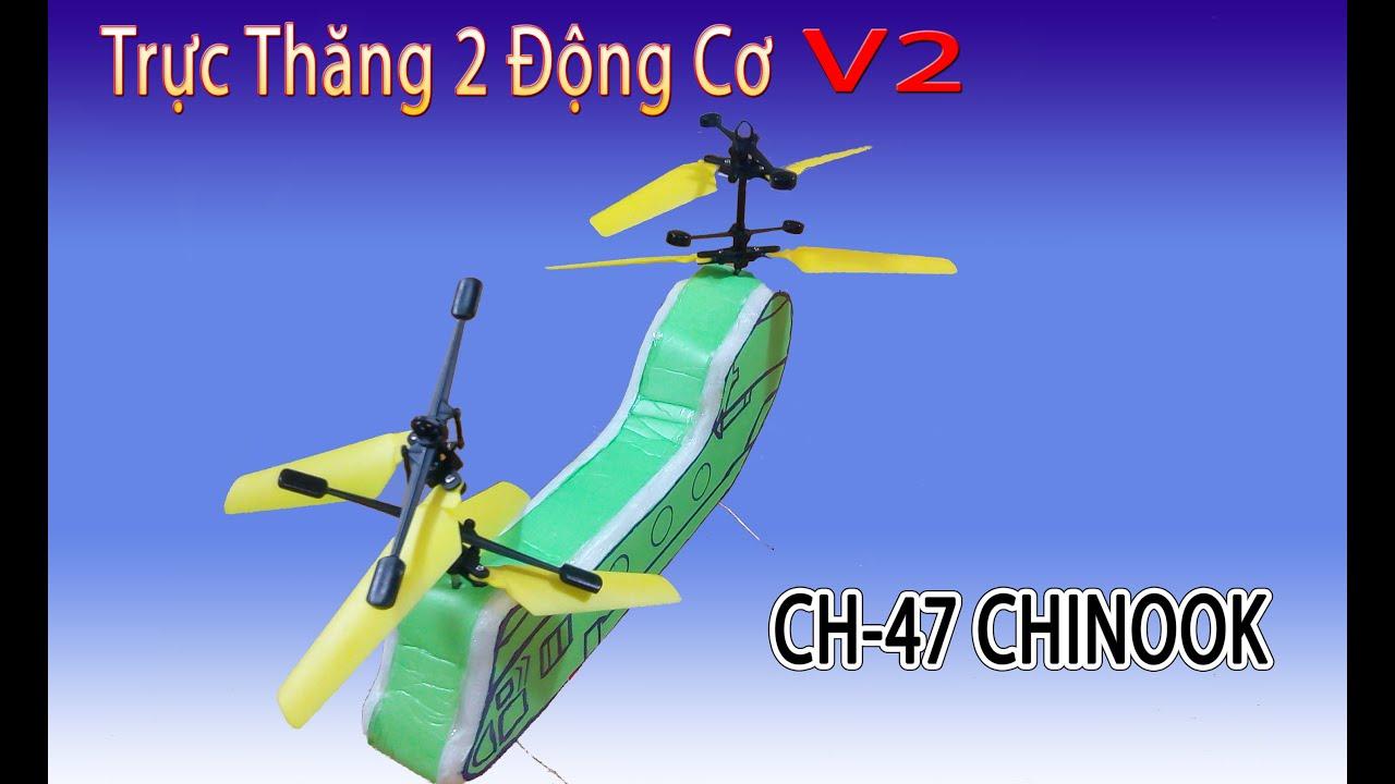 Làm Trực thăng 2 động cơ quân sự vận tải CH-47 CHINOOK