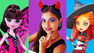 drakulaura monster high partisine gidiyor polen le monster high makyajı kız makyaj oyunu