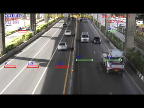Vehicle Counting System Multiple Lane 7 Lanes Accuracy 95
