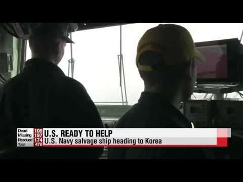 U.S. ready to help Korea recover wreckage of capsized ferry