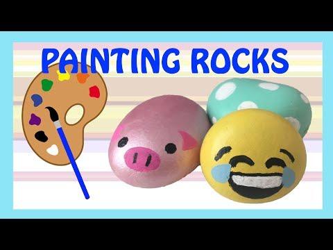 Emoji Painted Kindness Rock Painting Jimena Journal