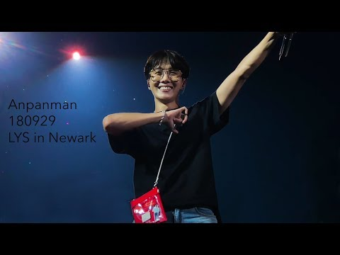 180929 Love Yourself World Tour in Newark | Anpanman 4K | 제이홉 직켐 J-Hope Focus