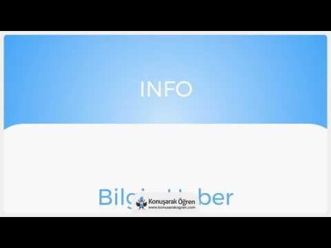 Info Nedir? Info İngilizce Türkçe Anlamı Ne Demek? Telaffuzu Nasıl Okunur? Çeviri Sözlük