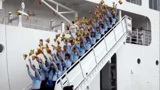 Flag cheer Myanmar Contingent at SSEAYP 2012