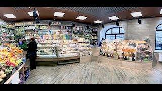 Торговое оборудование для магазина. Купить прилавки, заказать стеллажи для овощей и фруктов.
