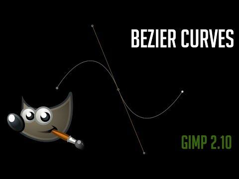 How To Create Bezier Curve Pen Paths | GIMP 2.10 Tutorial