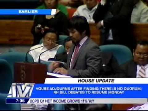 Edcel Lagman vs Manny Pacquiao (RH Bill Plenary Debate) [2/2]