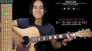 Medicine Guitar Cover Acoustic - Bring Me The Horizon 🎸 |Tabs + Chords| Video
