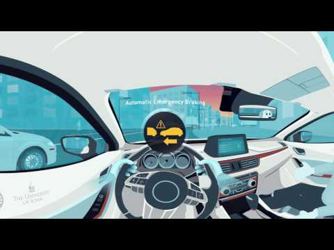 Automatic Emergency Braking - Move your mouse & your head to see automatic braking in 360