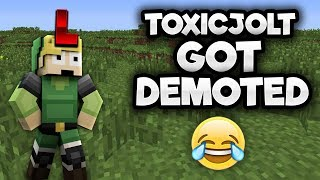 TOXICJOLT GOT DEMOTED..... (NO LONGER CHAT MOD LOL)