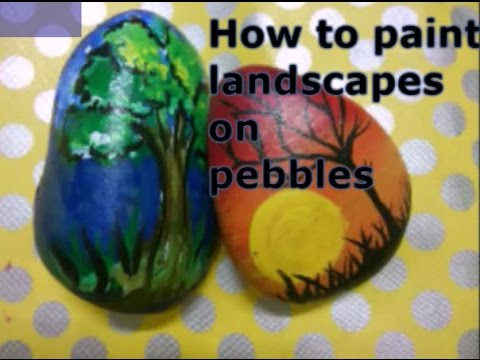 Diy How To Paint On Pebble Rock Pebble Painting For
