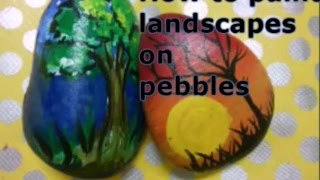 Diy | How To Paint On Pebble/rock | Pebble Painting