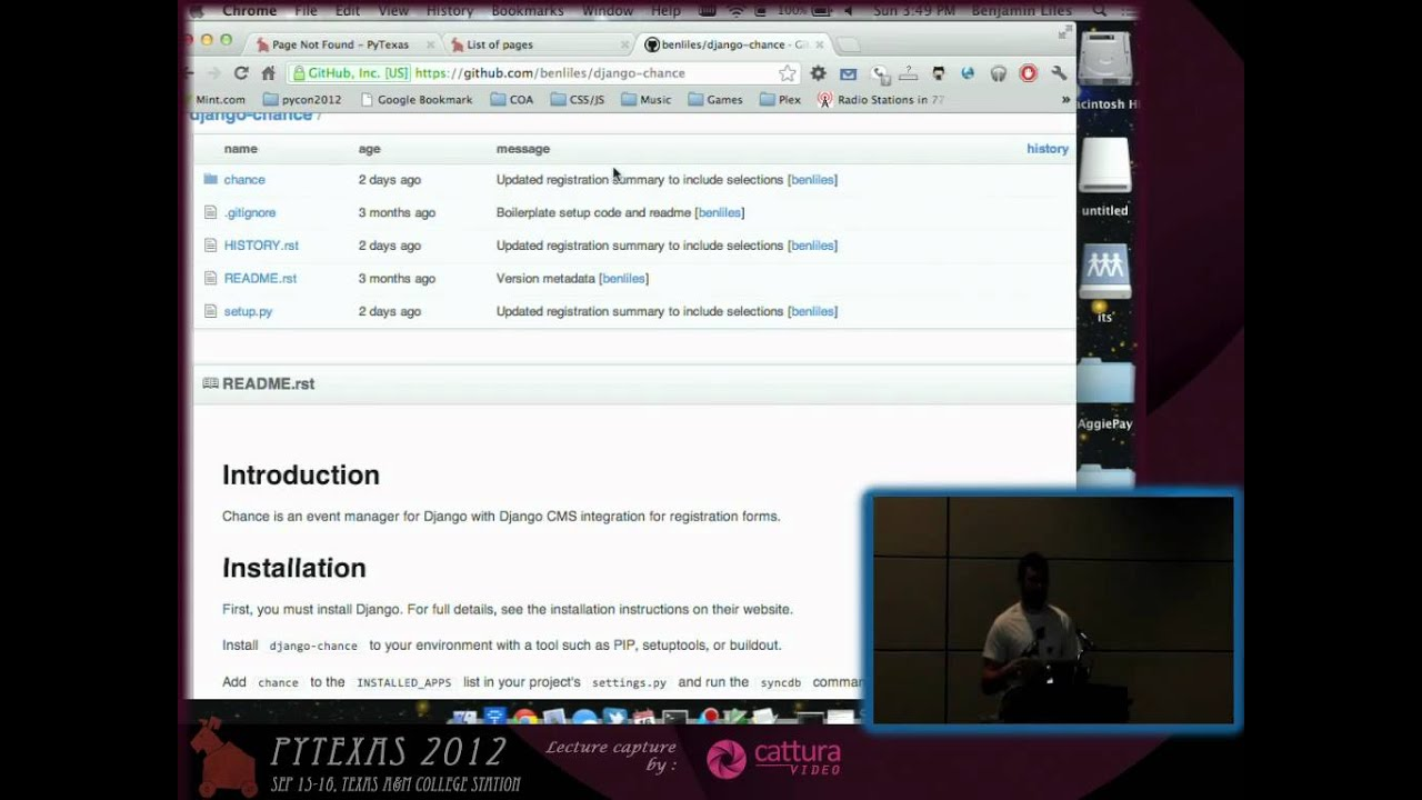 Image from Lightning Talk: Pytexas Website